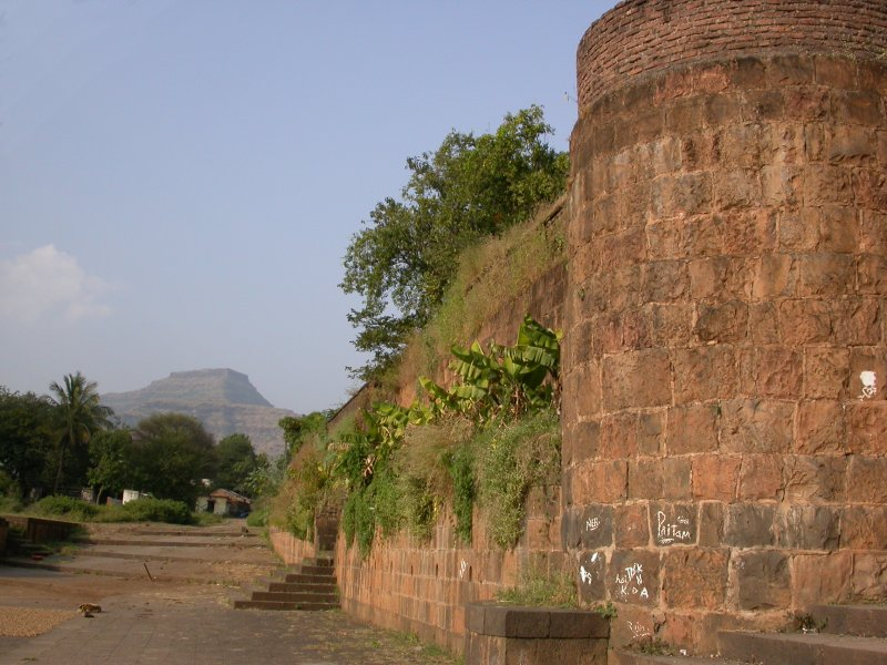 View of Pandavgad in distance